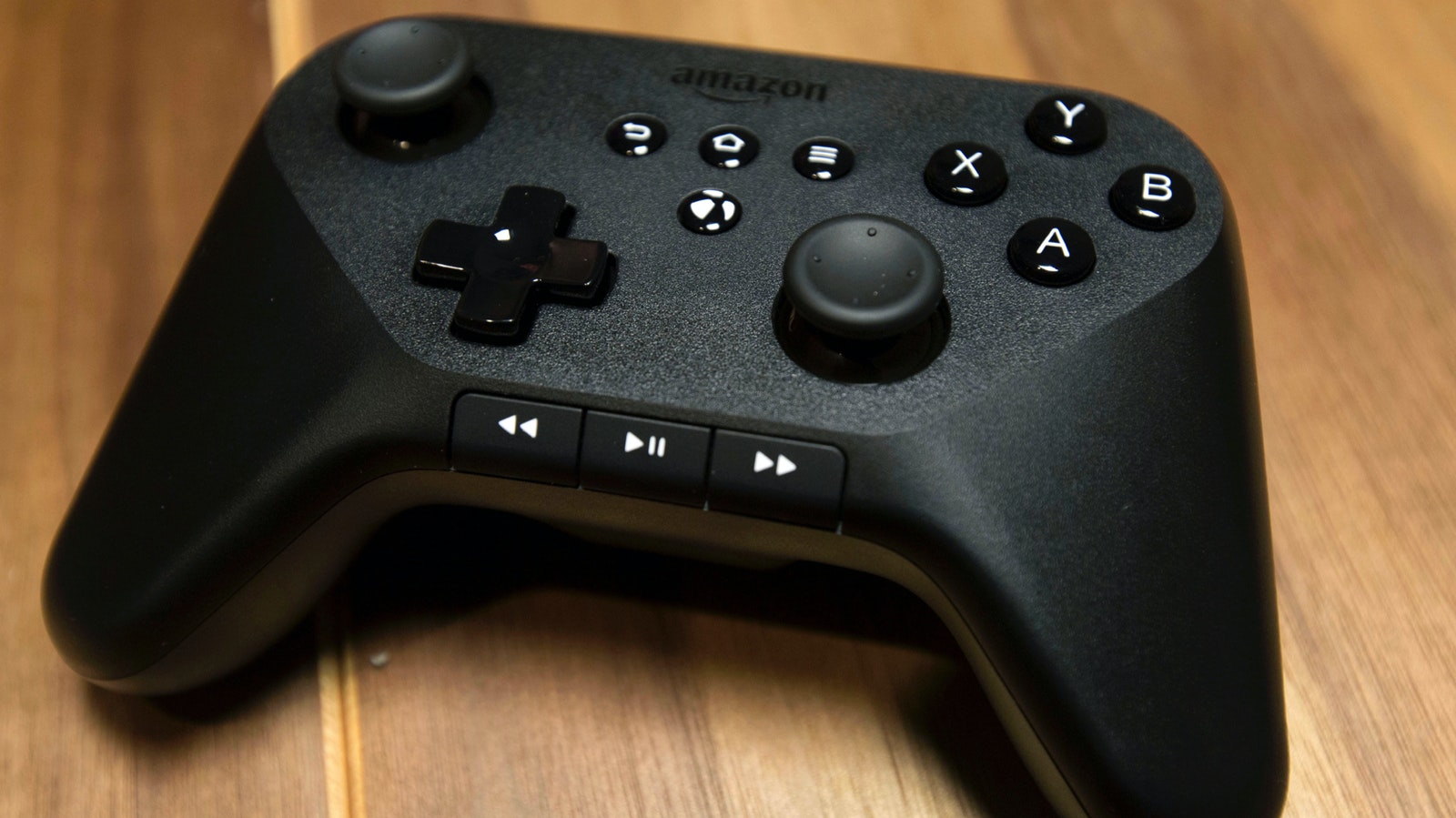 An Amazon game controller. Photo by Bloomberg