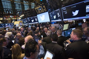 The New York Stock Exchange floor. Photo by Bloomberg.