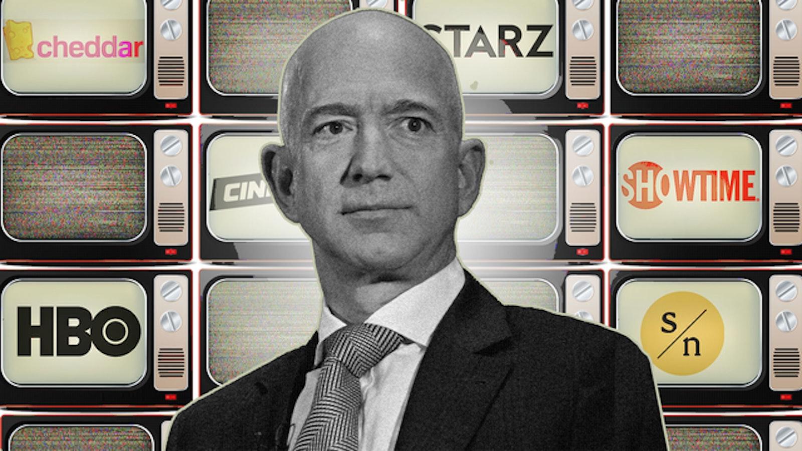 Amazon CEO Jeff Bezos. Art by Mike Sullivan