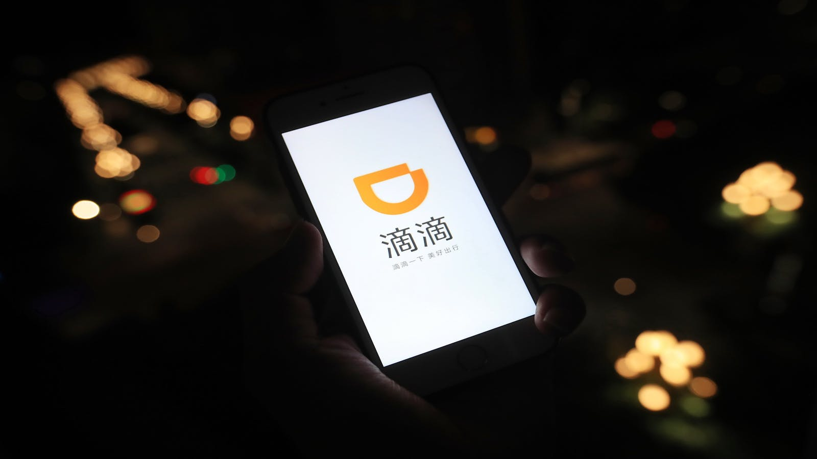 Smartphone app Didi Chuxing. Photo by Imaginechina via AP Images.