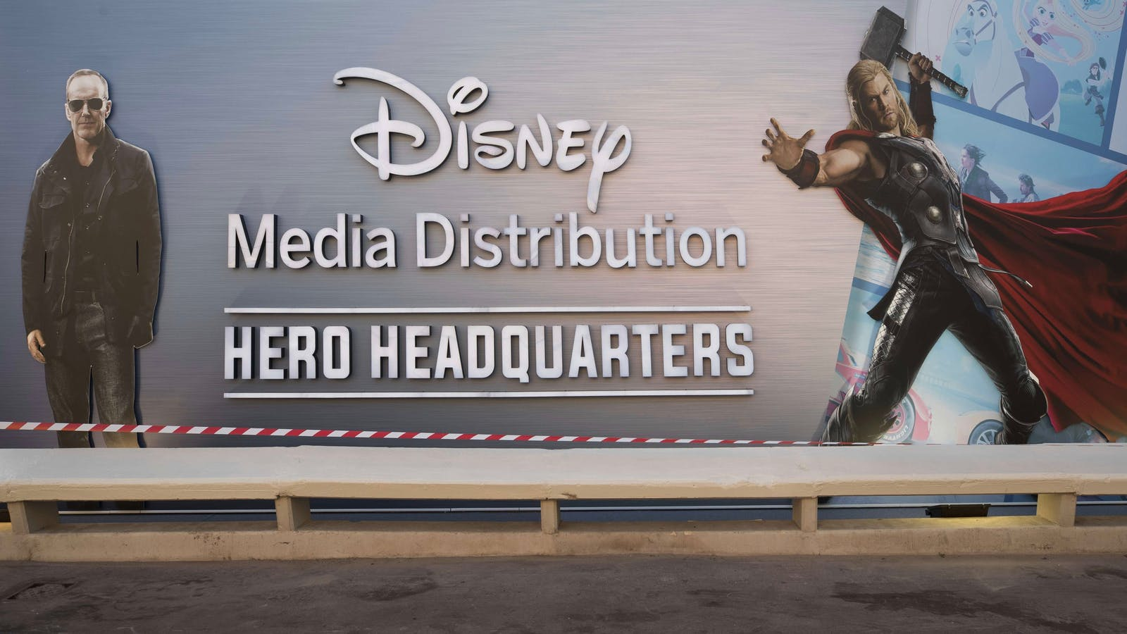Disney's office at the international TV sales market MIPCOM in Cannes, France in 2017. Photo by AP
