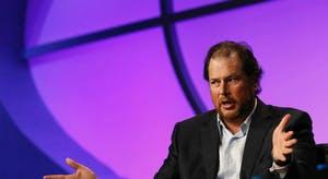Salesforce.com CEO Marc Benioff. Photo by Bloomberg.