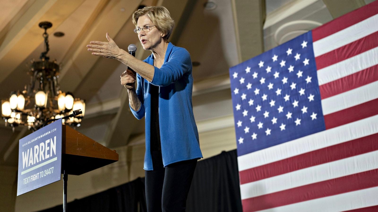 Sen. Elizabeth Warren. Photo by Bloomberg