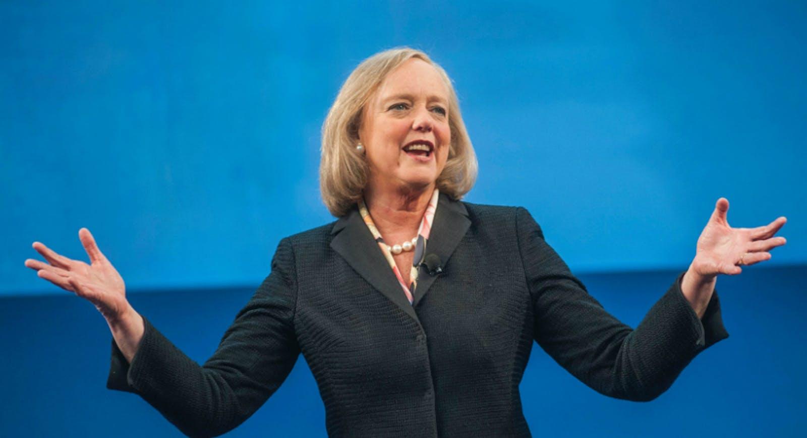 Hewlett-Packard CEO Meg Whitman. Photo by Bloomberg.