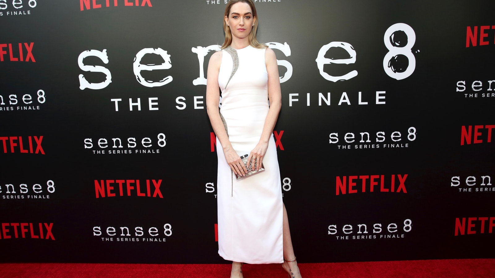 """Actress Jamie Clayton from """"Sense8"""" at a screening for the show in Los Angeles last June. Photo by AP"""