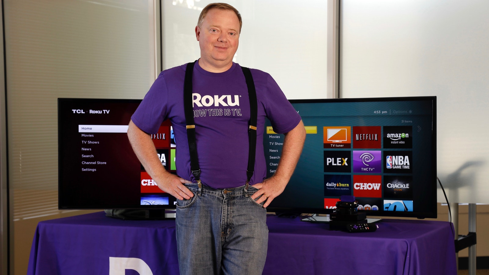 Roku CEO Anthony Wood. Photo by AP