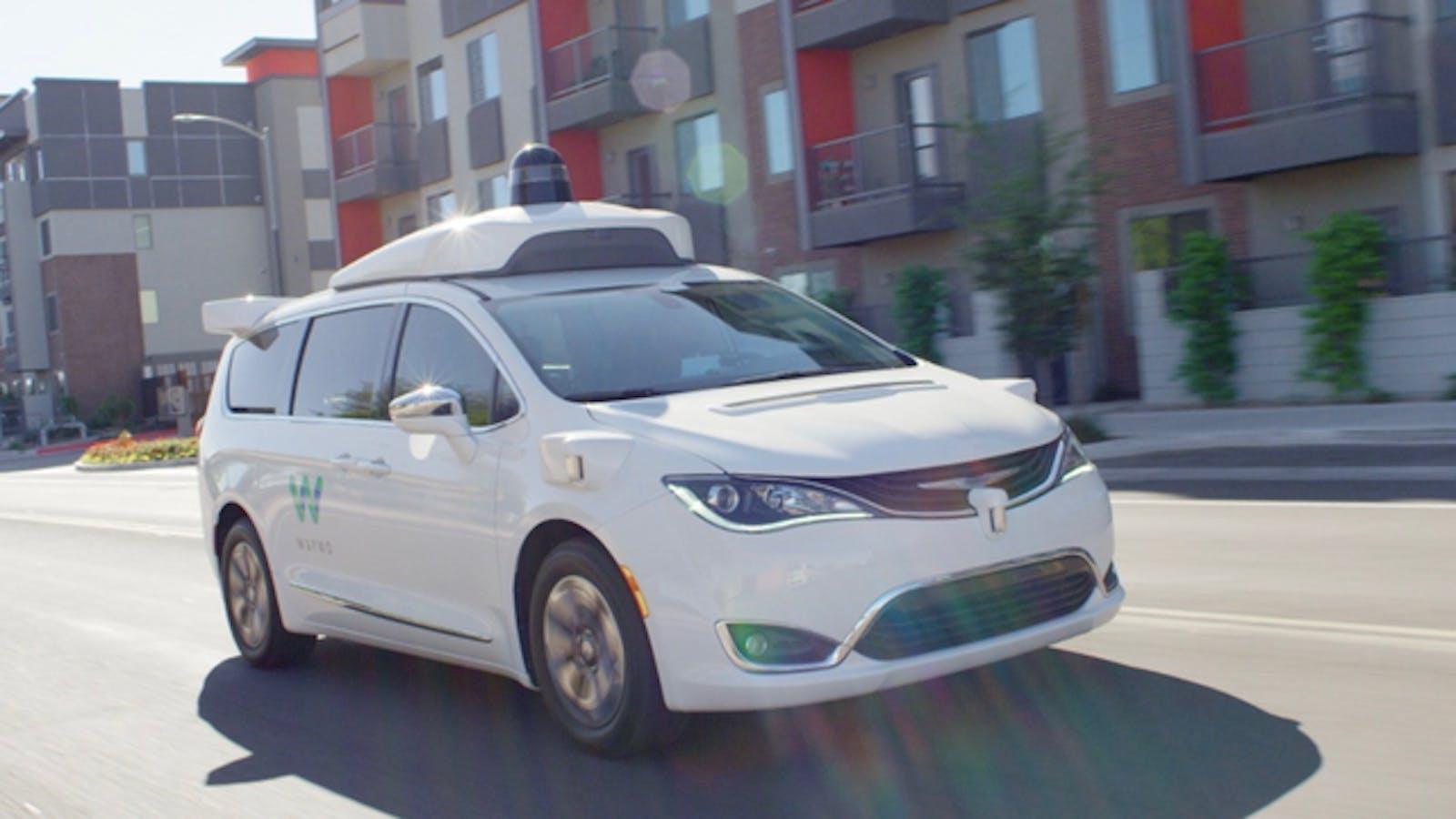A Waymo self-driving test vehicle in the Phoenix area. Photo: Waymo.