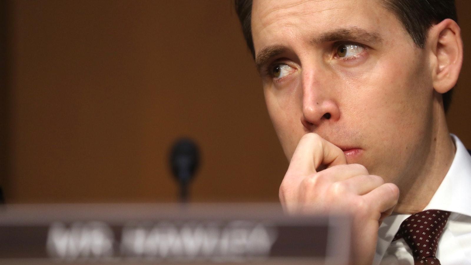 Sen. Josh Hawley of Missouri. Photo by Bloomberg.