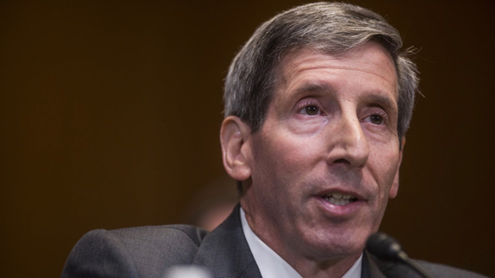 FTC Chairman Joe Simons spoke during a Senate  hearing in May 2018. Photo: Bloomberg