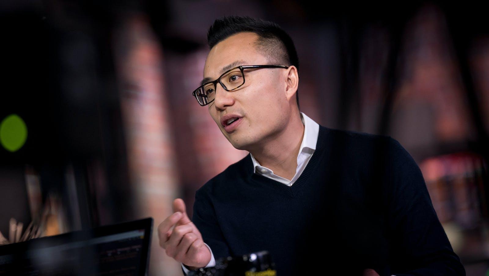 DoorDash CEO Tony Xu. Photo by Bloomberg.