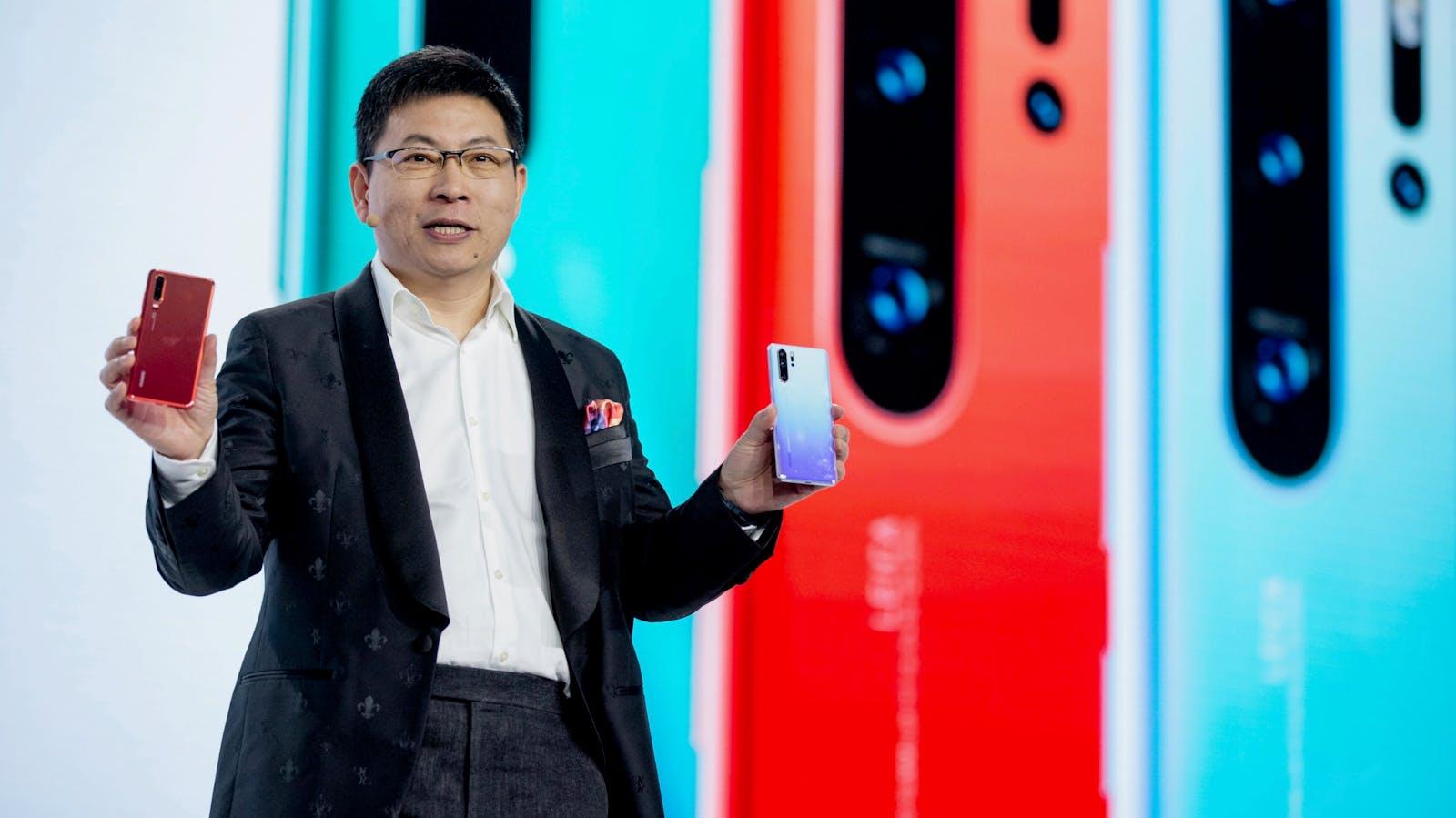 Huawei's consumer electronics chief Richard Yu. Photo by Bloomberg