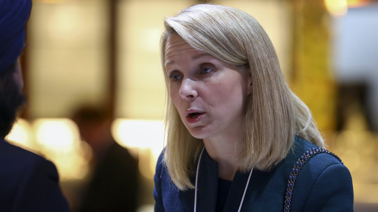 Lumi Labs co-founder Marissa Mayer in January. Photo by Bloomberg