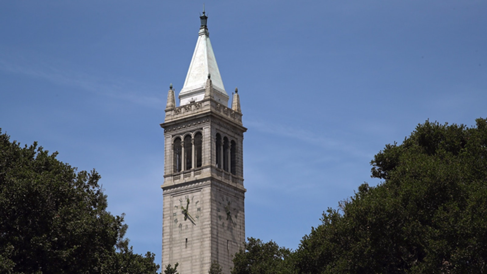 Sather Tower, on the UC Berkeley campus. Photo by AP.