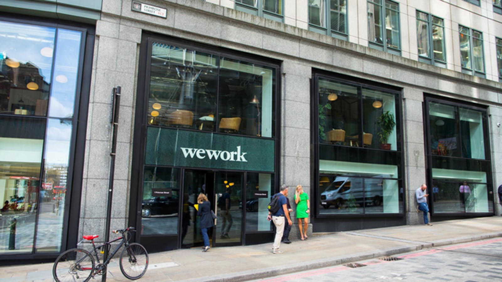 A WeWork office in London in 2017. Photo: Bloomberg