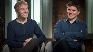 Stripe co-founders Patrick Collison, left, and John Collison. Photo: Bloomberg