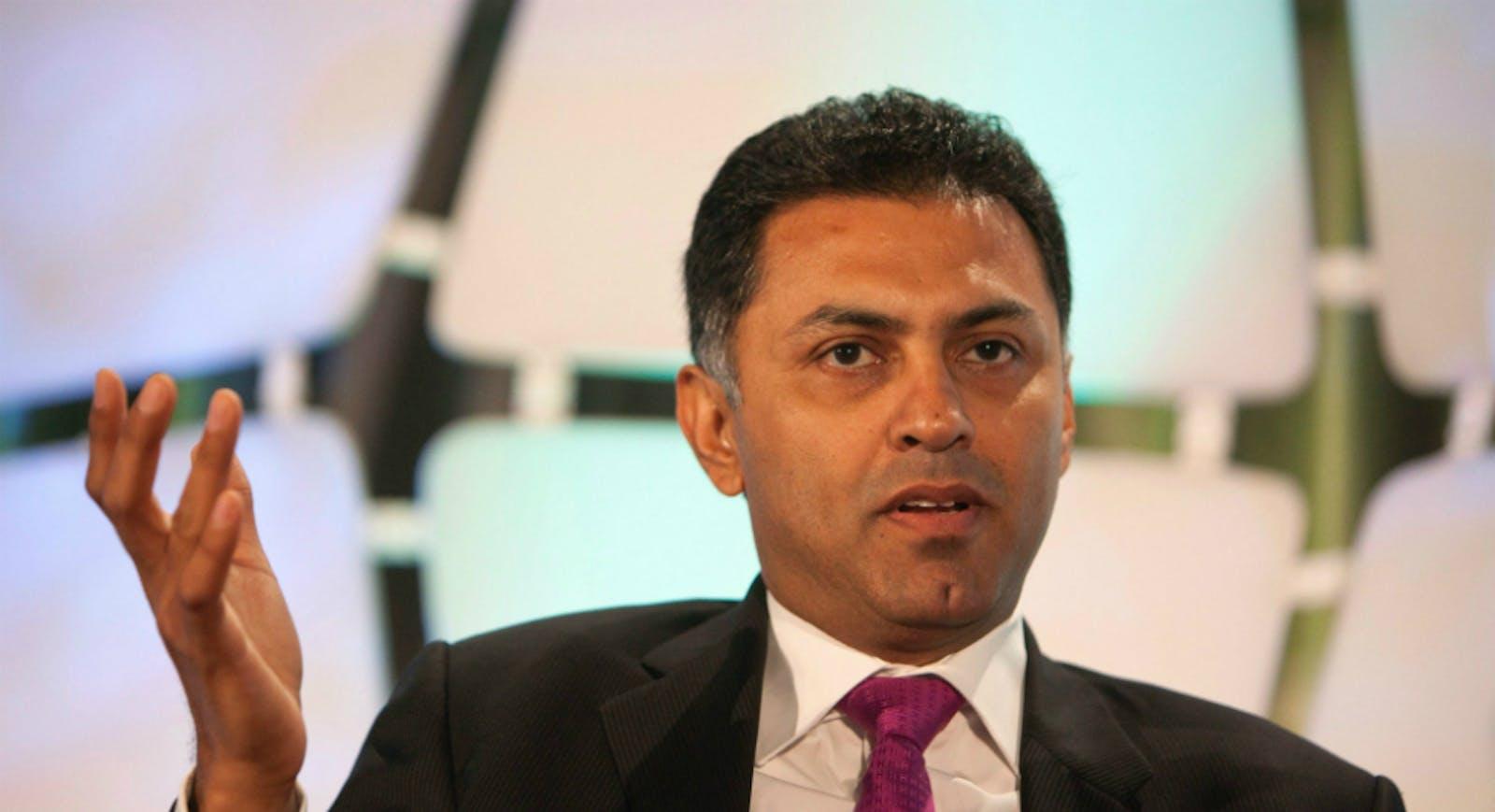 Former Google executive Nikesh Arora. Photo by Bloomberg.