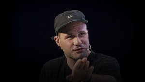 Postmates CEO Bastian Lehmann at the TechCrunch Disrupt conference on Friday. Photo by Bloomberg