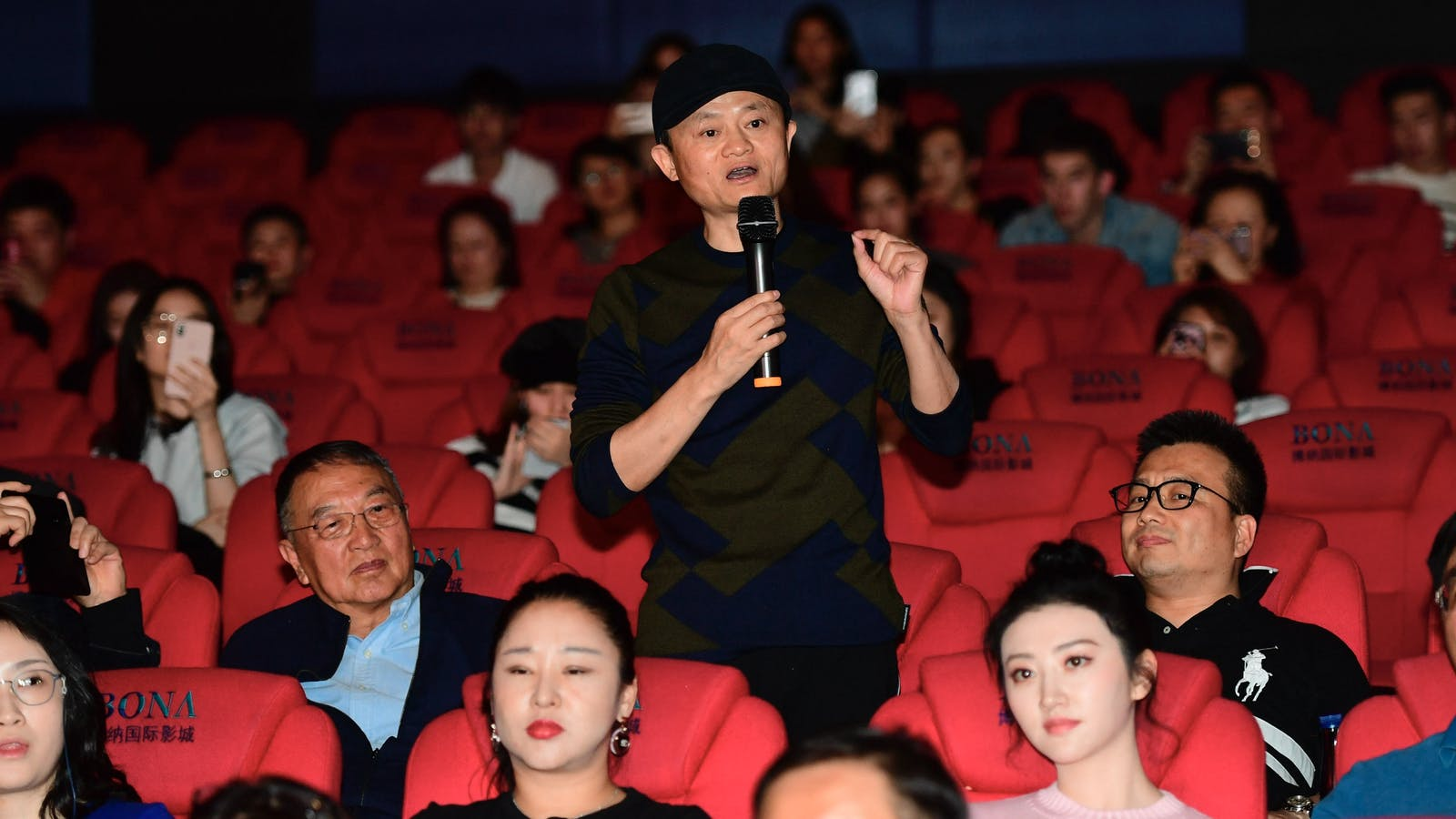 "Alibaba Chairman Jack Ma at a promotional event for ""Green Book"" in Beijing earlier this year. Photo by AP"