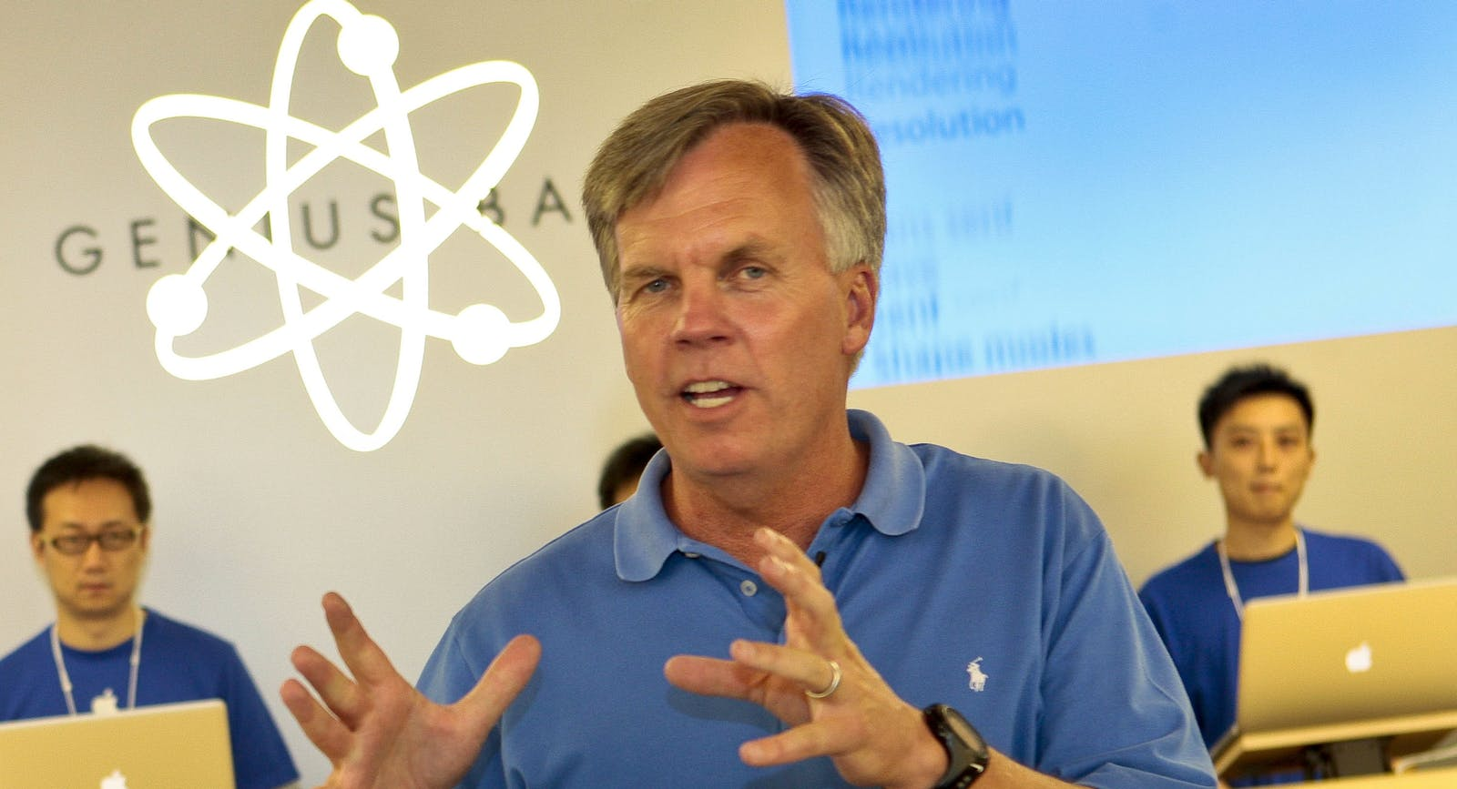 Ron Johnson in an Apple Store. Photo by Associated Press.