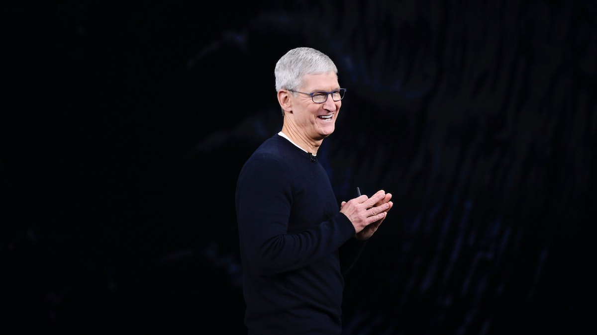 Apple CEO Tim Cook. Photo by Bloomberg