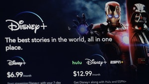Disney Plus' introductory page. Photo by AP