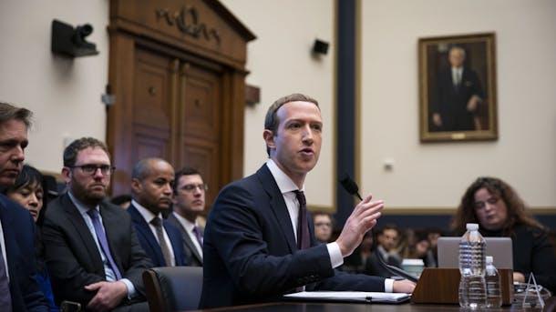Mark Zuckerberg testifies to Congress. Photo by Bloomberg.