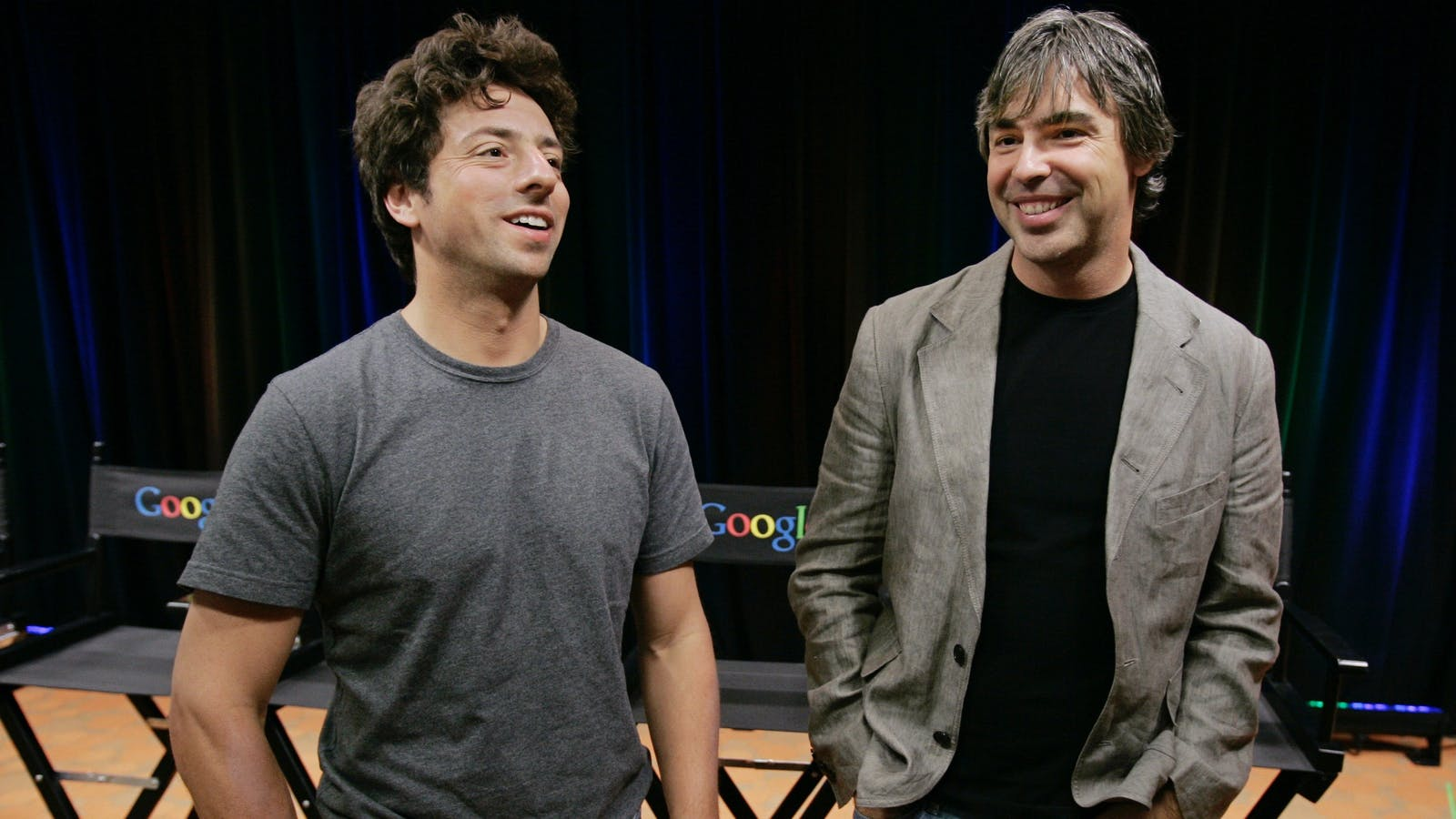 Sergey Brin and Larry Page. Photo by AP