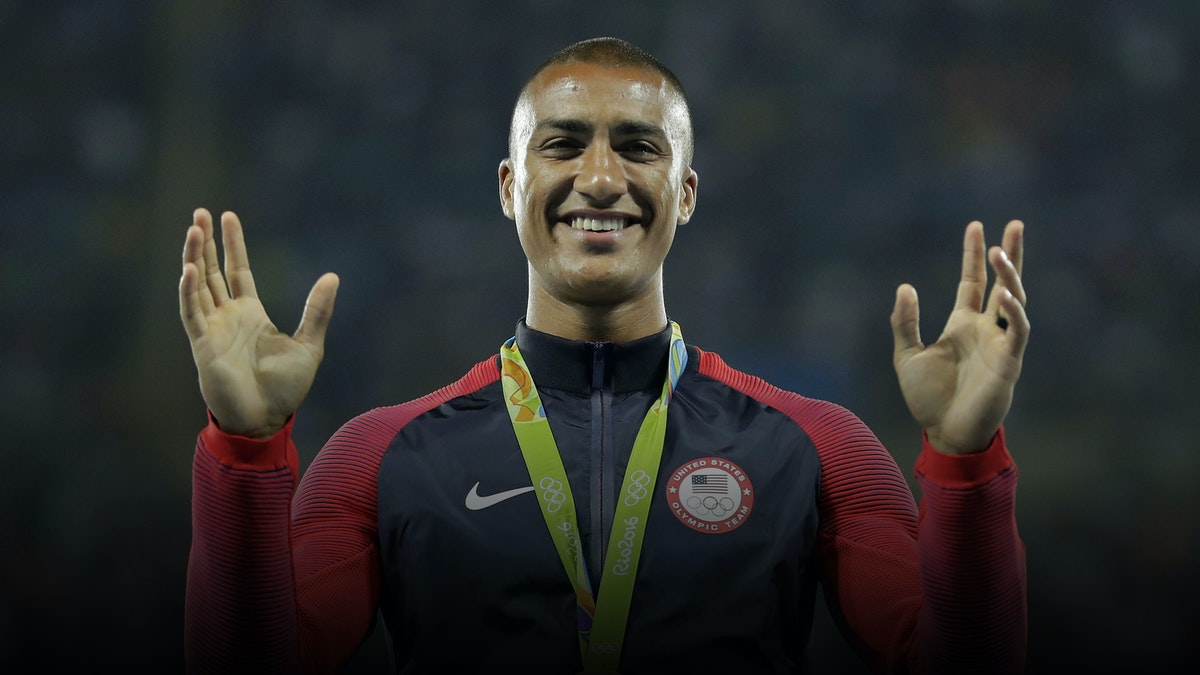Ashton Eaton, gold medal winner at the 2016 Summer Olympics in the decathlon. Photo by AP