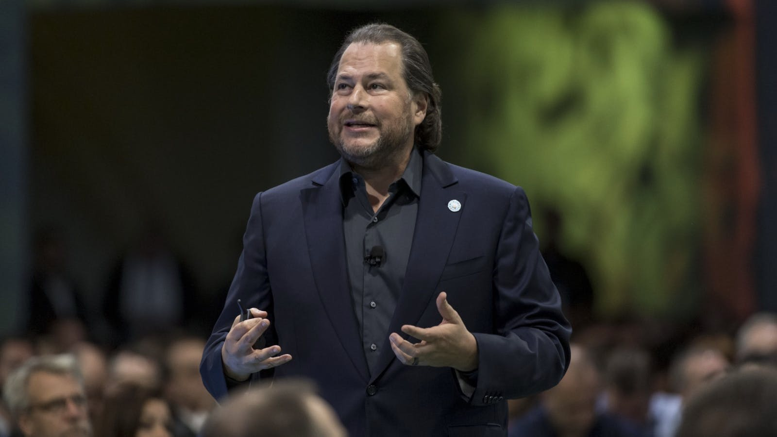 Salesforce co-CEO Marc Benioff. Photo by Bloomberg