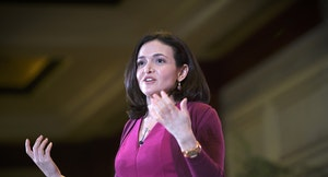 Facebook chief operating officer Sheryl Sandberg has been pitching Atlas. Photo by Bloomberg.