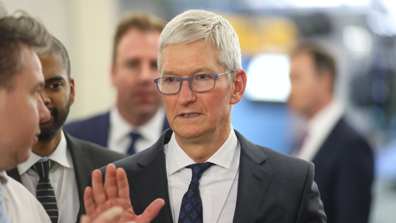 Apple CEO Tim Cook at the World Economic Forum in Davos, Switzerland, this month. Photo by Bloomberg