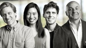 Sequoia Capital's Konstantine Buhler (left), Josephine Chen, Shaun Maguire and Bogomil Balkansky. Photos by Sequoia; illustration by Mike Sullivan