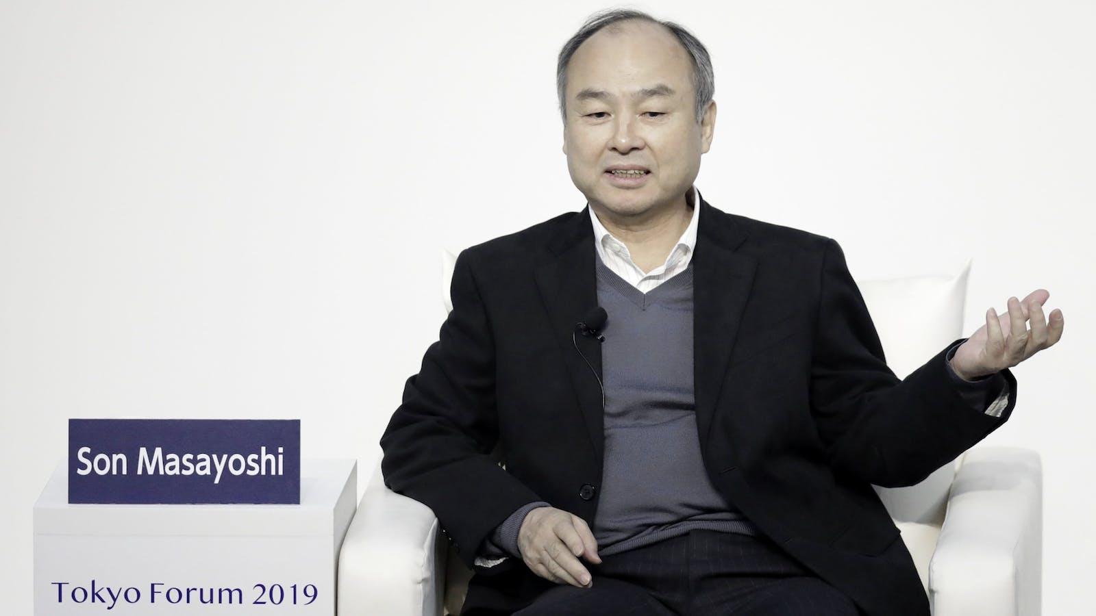 SoftBank CEO Masayoshi Son. Photo by Bloomberg