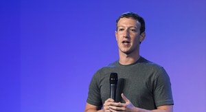 Facebook CEO Mark Zuckerberg in India this week. Photo by Bloomberg.