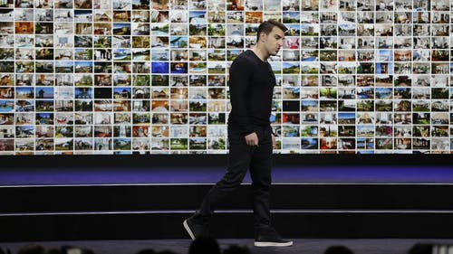 Airbnb co-founder and CEO Brian Chesky at an event in 2018. Photo by AP.