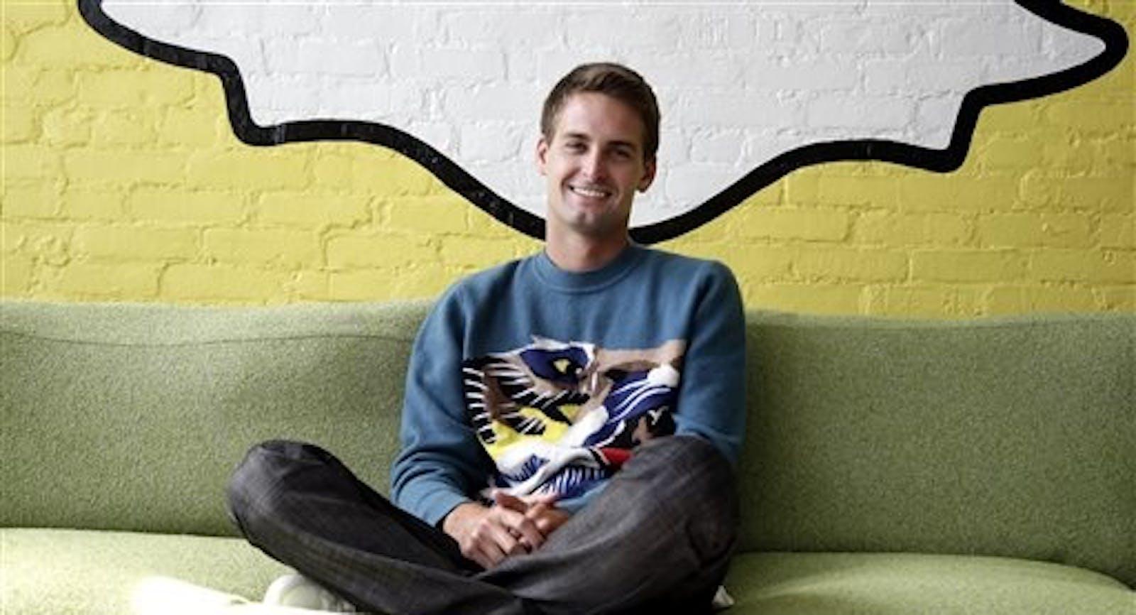 Snapchat CEO Evan Spiegel. Photo by Associated Press.