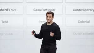 Airbnb CEO Brian Chesky in 2018. Photo: AP