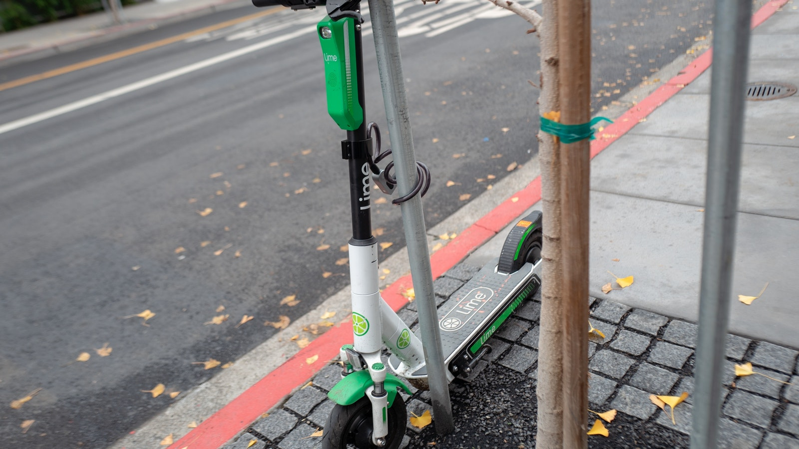 A Lime scooter in San Francisco last December. Photo by AP