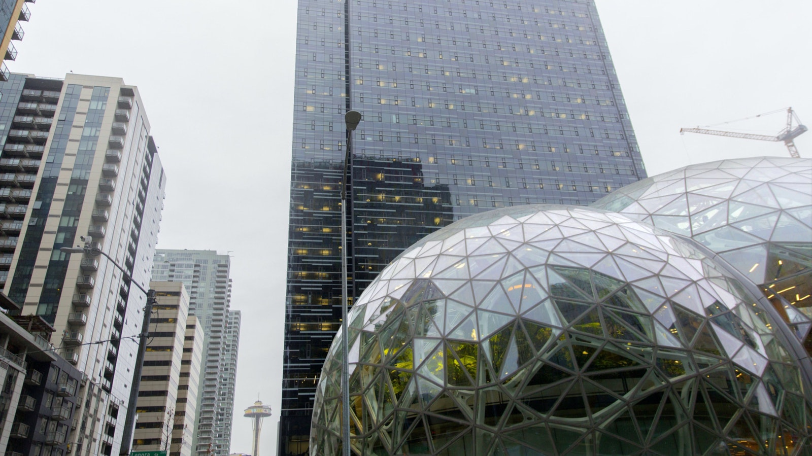 Amazon's Seattle headquarters. Photo by Bloomberg