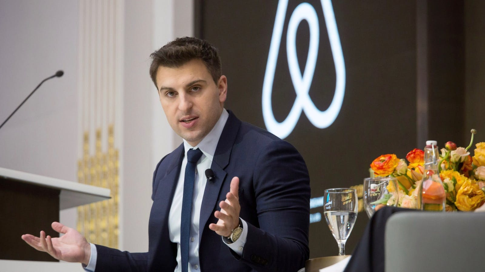 Airbnb CEO Brian Chesky in 2017. Photo: Bloomberg