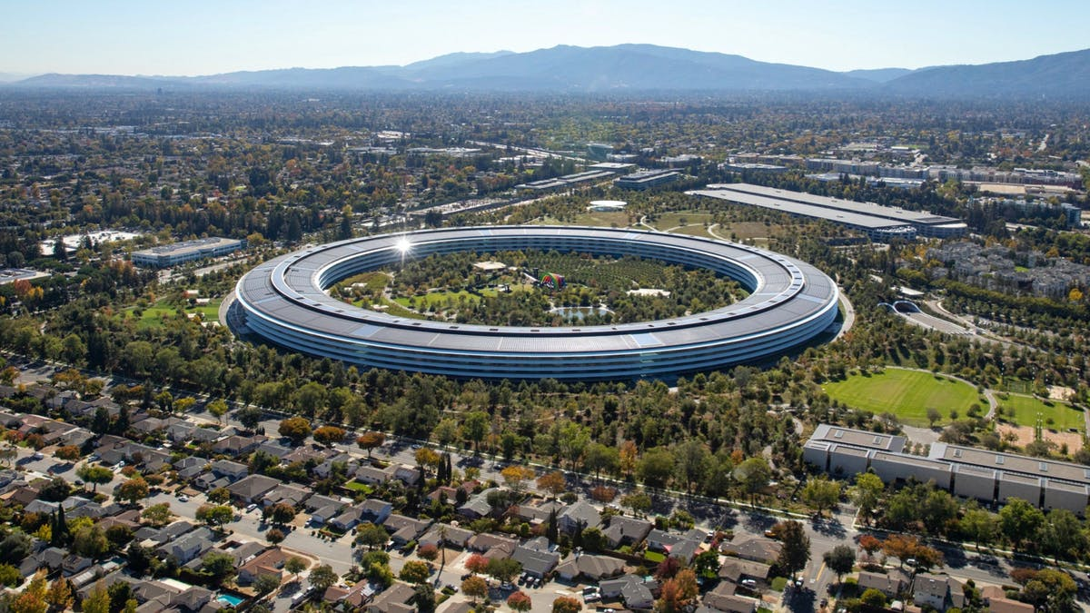 Apple's headquarters in Cupertino, California. Photo by Bloomberg