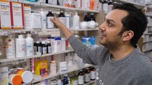 Capsule founder Eric Kinariwala in the company's midtown Manhattan pharmacy. Photo: Capsule