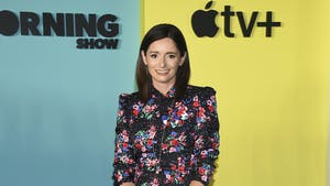 """Hello Sunshine's Sarah Harden at the world premiere of """"The Morning Show"""". Photo by AP"""