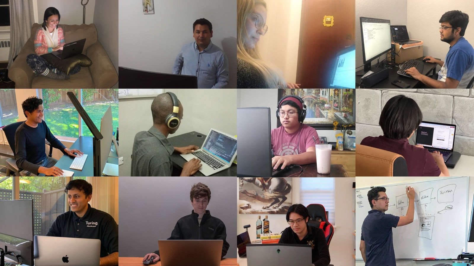 Turing engineers and staff. Images courtesy of Turing.