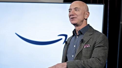 Amazon CEO Jeff Bezos. Photo by Bloomberg