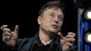 Tesla CEO Elon Musk. Photo by Bloomberg
