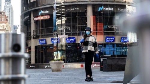 The Nasdaq in New York. Photo by Bloomberg