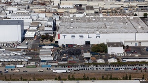 Tesla's Fremont, Calif. factory. Photo by Bloomberg