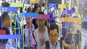 Facial recognition technology being demonstrated at a conference in China last year. Photo by Bloomberg