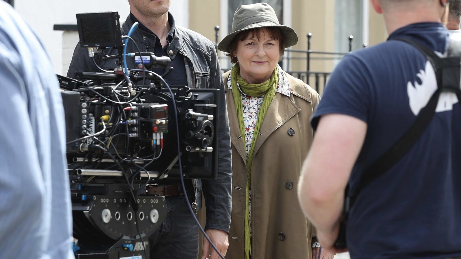 """Actress Brenda Blethyn during filming of the police drama """"Vera,"""" one of BritBox's popular shows. Photo by AP"""